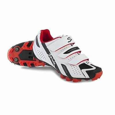 Spiuk Rocca Kids MTB Cycling Shoe - Road/Cyclocross/CX - UK Size 4-7.5 WHITE