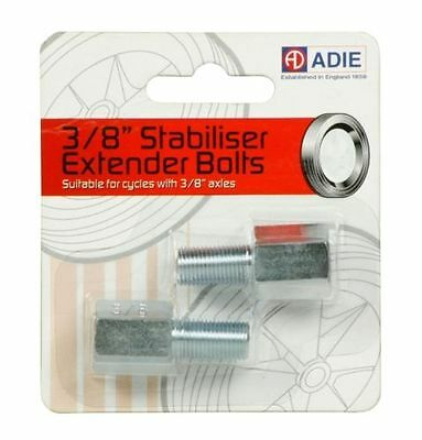 "Adie Stabiliser Extender Bolts For Bikes with 3/8"" Axles Bicycle Cycling"