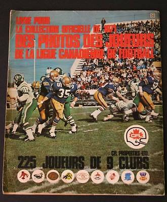1971 CFL ALBUM BOOK FOR CANADIAN FOOTBALL LEAGUE PLAYERS' PHOTOS  120 Stickers