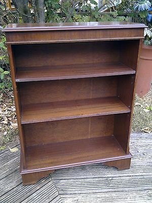quality mahogany bookcase with adjustable shelves