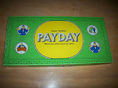 Vintage PAYDAY Board Game Parker Bros 1974 Green Box  COMPLETE