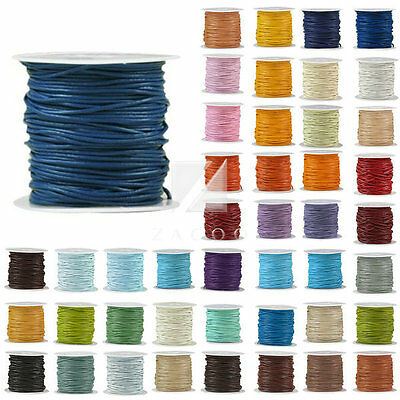 10m/Roll Thread Leather Cord Thong Jewelry Craft Bracelet Round  DIY 1-6mm