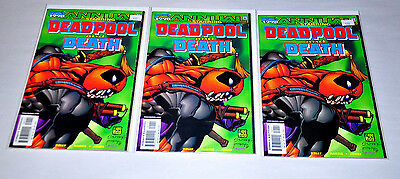 Deadpool and Death 1998 Annual Lot Of 3 Copies