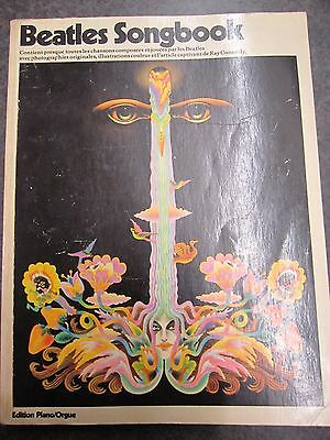 Vtg 1967 Beatles Songbook Sheet Music w/ Photos French / English Edition Piano