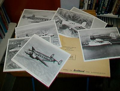 A PICTORIAL RECORD OF LOCKHEED AIRPLANES LODESTAR CONSTELLTION ELECTRA VEGA etc