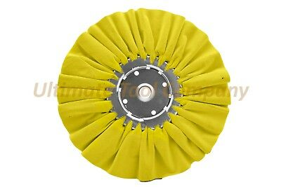 "10"" DIA Orange/Yellow Airway Buffing Wheel 5/8"" Arbor 16 PLY Renegade Products"