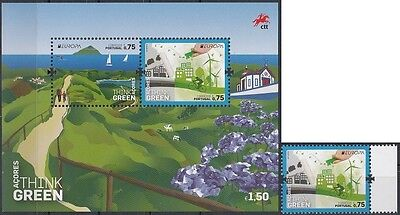 Azores 2016 EUROPA CEPT.THINK GREEN.1 MS+1 stamp.MNH