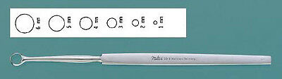 """Miltex 33-5A Curette Dermal Surgical Fox 5-1/2"""" 2mm Round Tip SS *FREE Shipping*"""