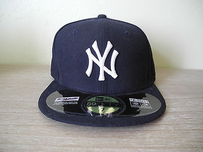 New Authentic New York Yankees New Era 59FIFTY Fitted Flat Brim Baseball Cap Hat