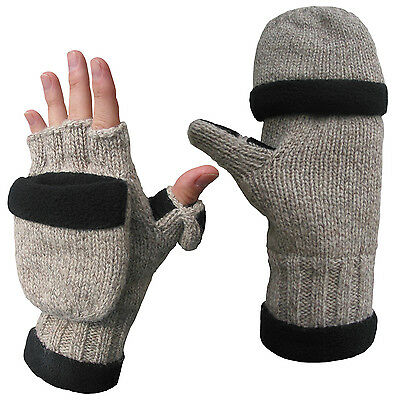 Ragg Wool Heated glove with pop-top mitten