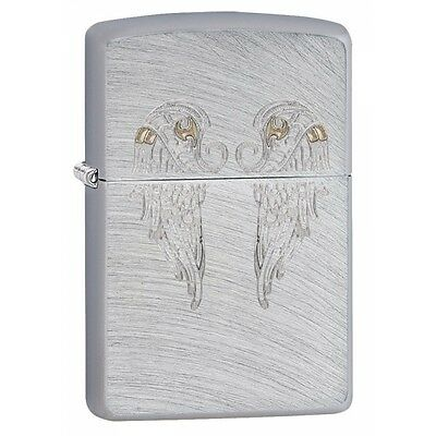 Zippo Angel Wings Chrome Arch Regular Lighter Brand New