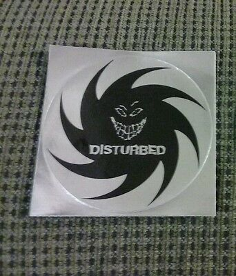Disturbed The Sickness vintage Sticker Silver decal 2001