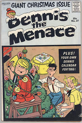 1964 DENNIS THE MENACE GIANT CHRISTMAS COMIC BOOK #27. Fine condition
