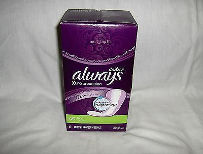 Always Dailies Xtra Protection 40 Long Liners