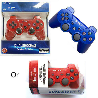 New DualShock Wireless Controller For PlayStation 3 -Official White Red Blue #1