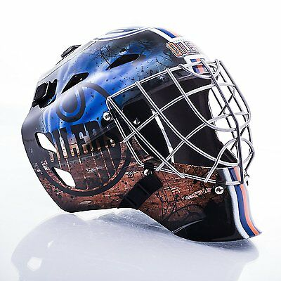 Franklin Sports GFM 1500 Goalie Mask - Edmonton Oilers