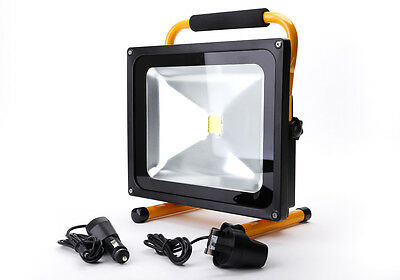 50W Portable Outdoor LED Rechargeable Floodlight Work Light Charger IP65