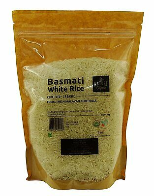 Nature Organic Basmati White Rice 35.2 Ounce - USDA Certified