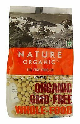 Nature Organic Dry Peas Bean 17.64 Ounce - USDA Certified
