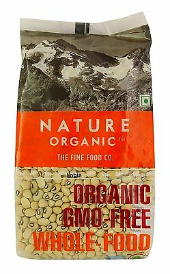 Nature Organic Black Eye Pea Beans 17.64 Ounce - USDA Certified