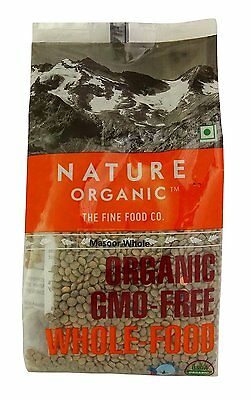 Nature Organic Masoor Dal Brown Lentils Whole 17.64 Ounce - USDA Certified