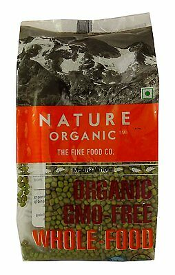Nature Organic Whole Green Gram (Moong Dal Whole) 17.64 Ounce - USDA Certified
