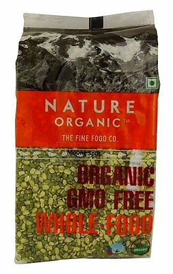 Nature Organic Split Green Gram Moong Dal Lentils 17.64 Ounce - USDA Certified