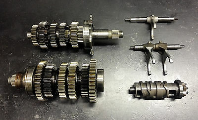 Yamaha Yzf-R1 2002 2003 02 03 5Pw Transmission Gearbox Complete W Forks & Drum