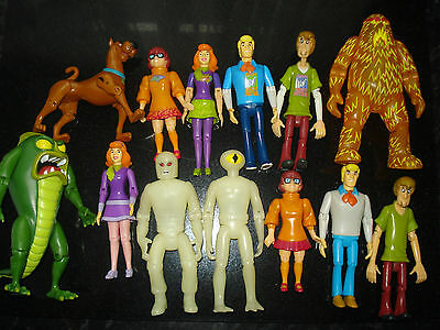 Scooby Doo Fred Shaggy Velma Daphne Animated Series Action Toy Figures - VGC