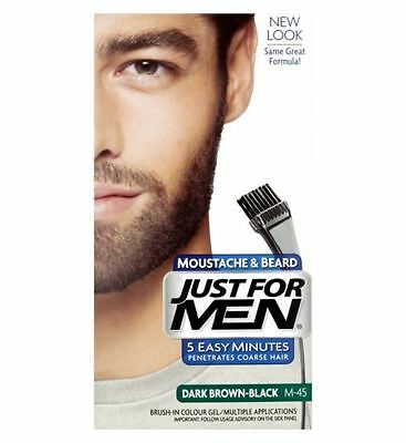 Just For Men Brush In Colour Moustache Beard DARK BROWN BLACK Facial Dye M45
