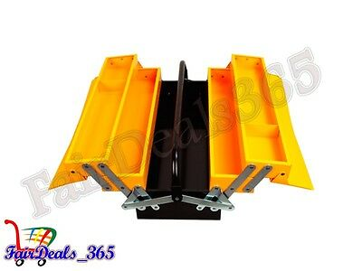"JCB 5 TRAY CANTILEVER TOOL  BOX  21"" x 8"" x 9"" LOAD CAPACITY 35KG HEAVY DUTY"