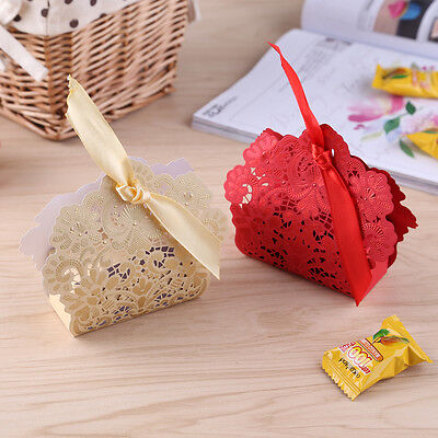 50PCS Luxury Wedding Favour Favor Sweet Cake Gift Candy Boxes Table Decoration