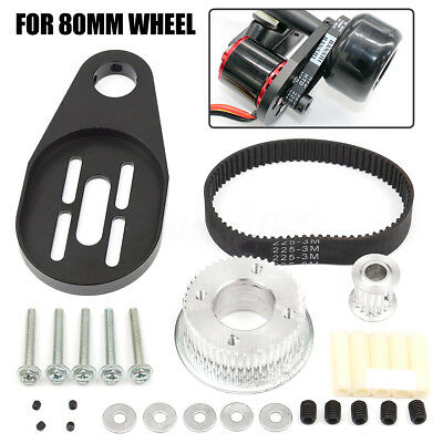 DIY Electric Skateboard Parts Pulley Drive Belt & Motor Mount Kit For 80MM Wheel