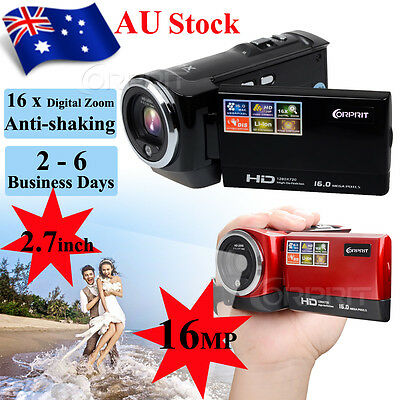 2.7'' LCD HD 720P Mini DV Digital Video Camera 16x ZOOM DVR Camcorder AU STOCK