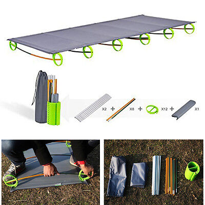 Ultralight Folding Camping Bed Portable Cots Outdoor Picnic Hiking Travel Mat UK
