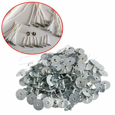 100/200pcs Candle Wick Metal Sustainer Wick Tabs Silver For Candle Making DIY