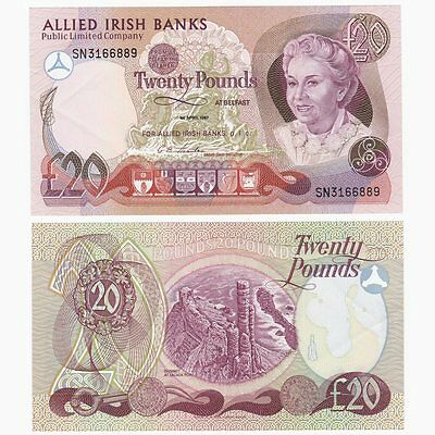 IRELAND - 1987 Allied Irish Banks £20 note - BYB ref: NI.108 - aUNC.