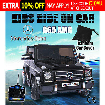 Electric Kids Ride on Car Licensed Mercedes Benz AMG G65 Children Remote Black