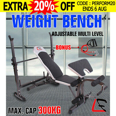 Multi-Station Weight Bench Press Leg Curl Fitness Weights Equipment Barbell Gym