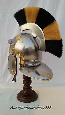 Ancient The Halloween Roman Centurion + White Plume Collectible Medieval Helmet