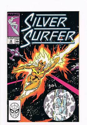 Silver Surfer # 12 Vol 2 1987 series !  grade - 7.5 scarce book !!