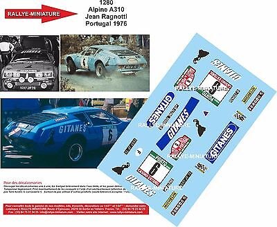 DECALS 1//18 REF 614 ALPINE RENAULT A110 MOUTON RALLYE MONTE CARLO 1976 RALLY WRC