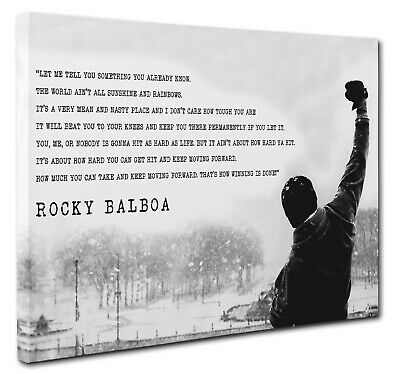 Rocky Balboa Canvas Wall Art Print Movie Motivation Quote 20x30 inches New