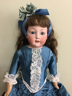 """Antique Doll Bisque By Revallo on a Kid Body 21"""""""