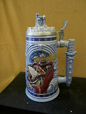 Avon 1995 Knights Of The Realm Lidded Beer Stein 101765 Made Ceramarte In Brazil