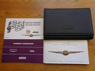 Chrysler Voyager Owners Handbook/Manual and Wallet 01-04