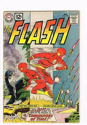 Flash # 125 The Conquerors of Time ! grade 3.0 scarce book !!
