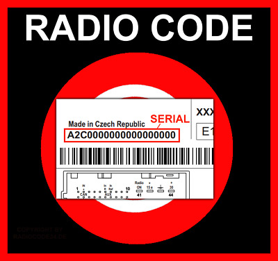 █►RADIO CODE Continental FIAT VP1 VP2 SECURITY CODE - SERIAL~ A2C...