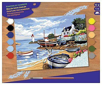 Senior Painting by Numbers - Fishing Village