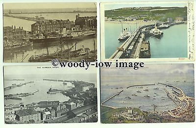 tp9624 - Kent - Eight Cards, Various Early Harbour Scenes, at Dover - postcard